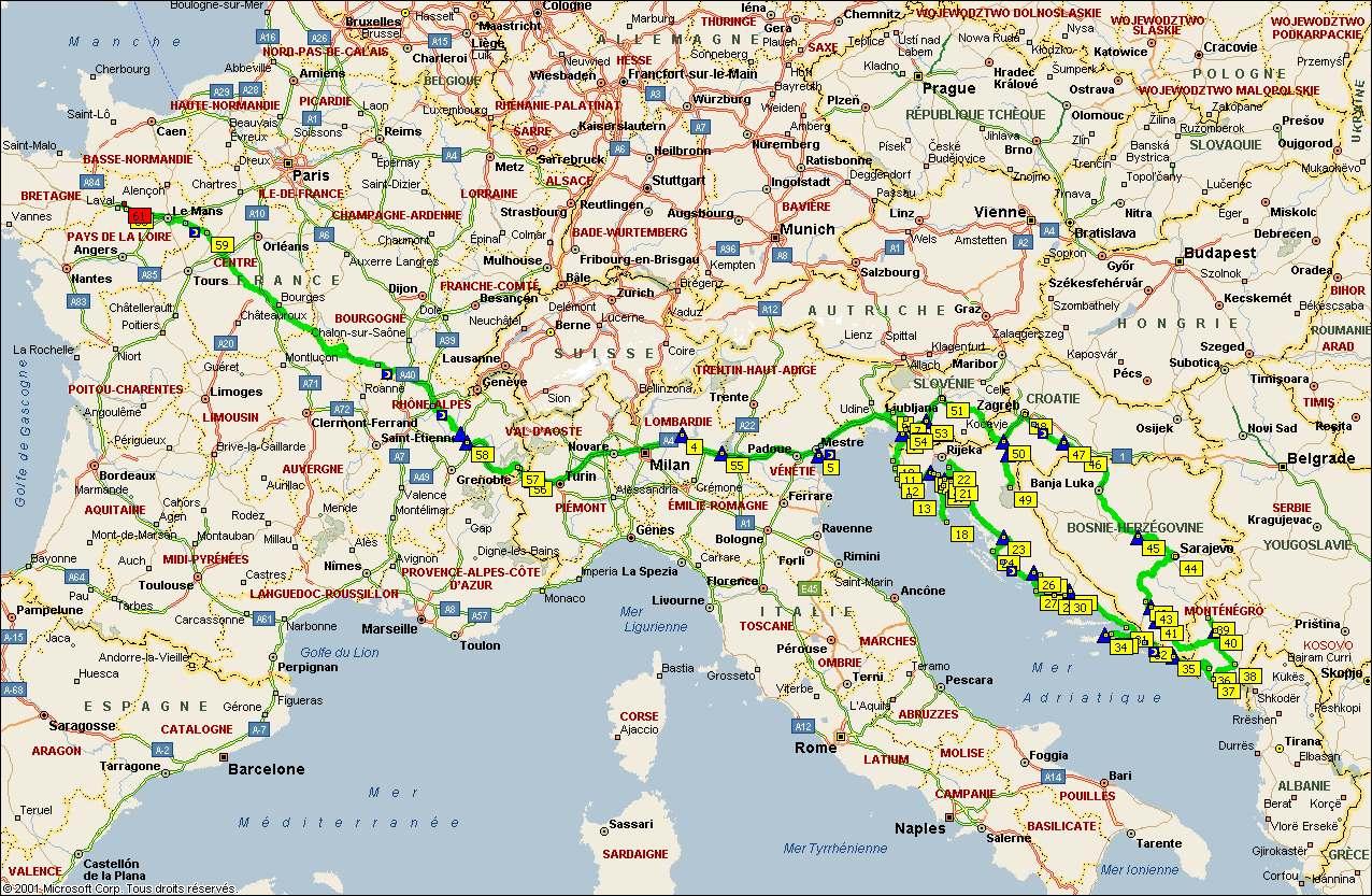 Carte Croatie Et Italie.La Croatie Ete 2005